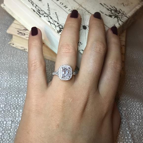 46 off Amber Jones Co Jewelry Double Halo Radiant Cut Fake